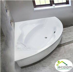 badewanne eckbadewanne eckig 150 x 150 cm ohne mit sch rze acryl ab berlauf bo ebay. Black Bedroom Furniture Sets. Home Design Ideas
