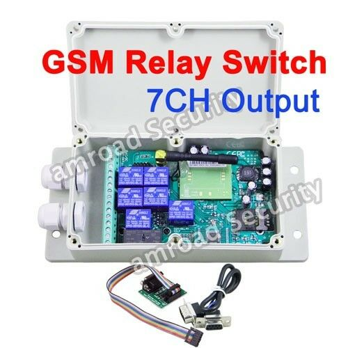 GSM-RELAY-DC 7CH GSM Remote Control Relay Output Switch Box 850/900/1800/1900MHz