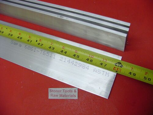 "4 Pieces 1//4/"" X 2-1//2/"" ALUMINUM FLAT BAR 48/"" long 6061 .250/"" Plate Mill Stock"