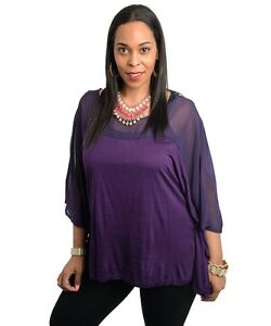 New-Comfy-Ladies-Plus-Size-Poncho-Style-Top-Size-16-18-18-20-amp-20-22