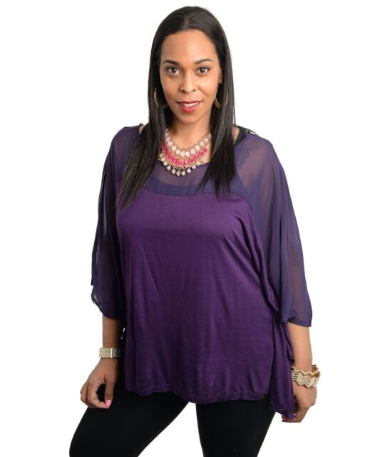 New - Comfy Ladies Plus Size Poncho Style Top - Size 16-18, 18-20 & 20-22