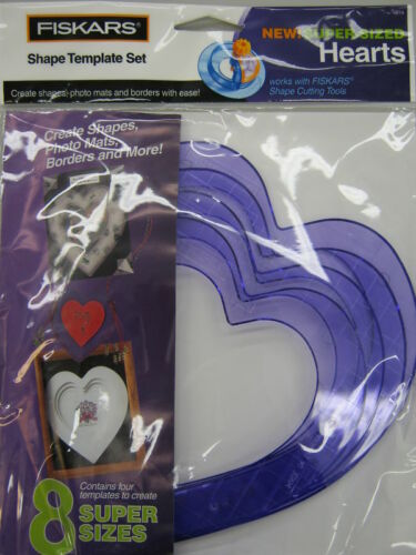 FISKARS Shape Cutter Template Super-Sized Hearts NIP