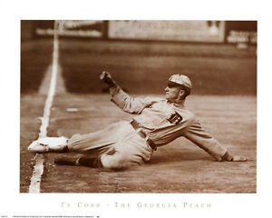 Ty Cobb Georgia Peach Detroit Tigers Art Print Poster Ebay