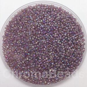 50g-glass-seed-beads-Purple-Rainbow-approx-2mm-size-11-0-craft-jewellery