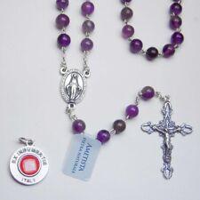 Bonus St Malachite Gemstone Rosary Sterling Silver Anthony Relic Medal