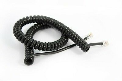10 x Curly Cord Panasonic Charcoal 3 Metres Long Tail Handset GST /& Del Inc