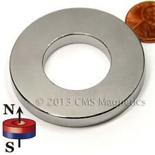 Super Strong N52 Od 2 X Id 1 X 14 Neodymium Rare Earth Ring Magnet 2 Pc