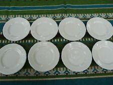 "8 Vintage Homer Laughlin Restaurant Ware 5 1/2"" Scalloped ivory Bread Plates"