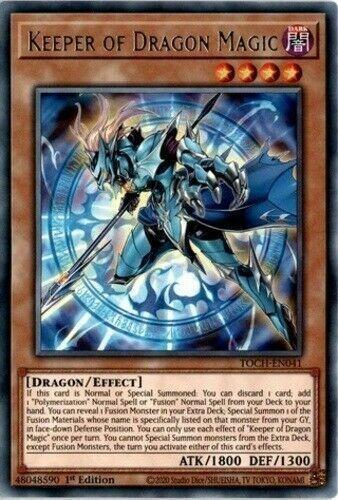 TOCH-EN041 x3 3 cards Rare Mint Yugioh 1st Ed Keeper of Dragon Magic