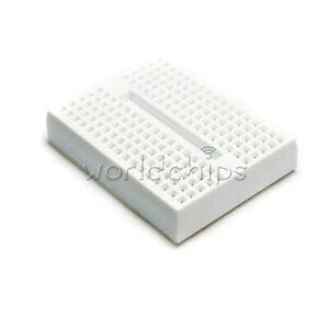 2PCS 170 Tie-points Mini Solderless Prototype Breadboard ABS White for Arduino