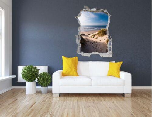 Dunas playa mar Holland murales pared Sticker Adhesivo de pared e0305