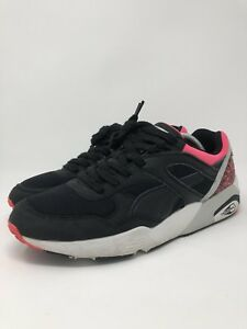 Puma Trinomic R698 OG 93 Mens Sneakers Black Pink 357481-01 Mens ... 2a8c1dfb9