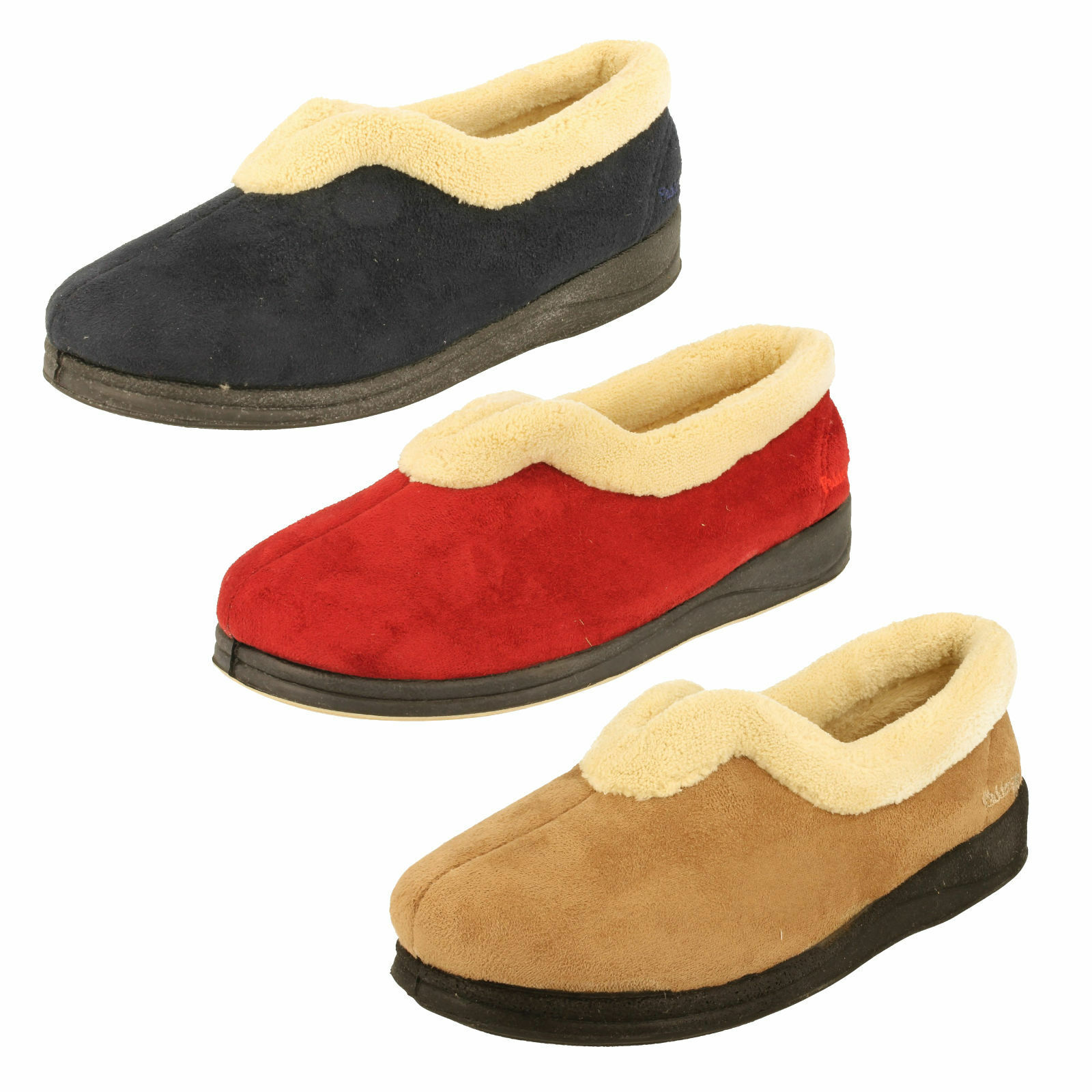 Ladies Padders Memory Foam Slippers - Carmen