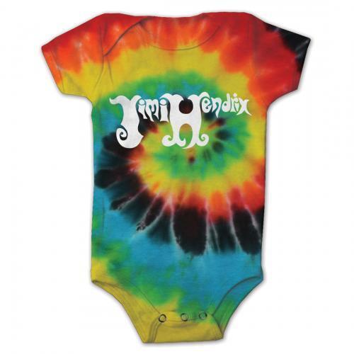 Jimi Hendrix Psychedelic Swirl Baby Romper One Piece Tie-Dye Rock Music 19751137