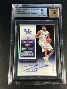KARL-ANTHONY-TOWNS-2015-CONTENDERS-DRAFT-TICKET-AUTO-ROOKIE-RC-99-BGS-9-10