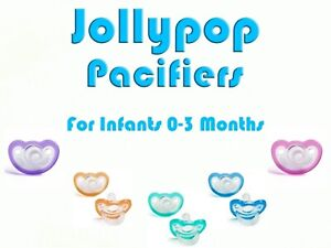 4 JollyPop Pacifier Plus mo Baby Soothie Gumdrop Silicone Pick Your Color 3