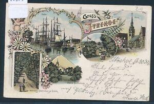 O 1897 Um Zu Helfen Fettiges Essen Zu Verdauen Bahnpost Itzehoe Wrist Zug 609 Ak Litho Gruss Aus Itzehoe 30355
