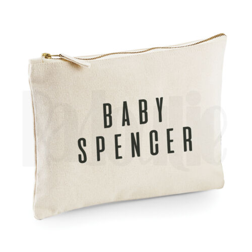 Personalised Baby Nappy Pouch// Mini Changing Bag GIFT FOR NEW BABY #SPBLAL