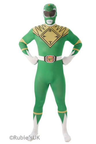 Adult POWER RANGERS Costume Fancy Dress Mighty Morphin Outfit 2nd Skin Mens Lady