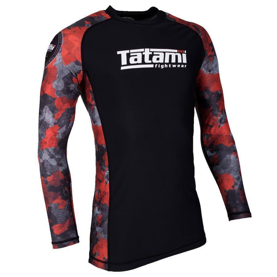 Tatami Renegade Red Mens BJJ Rash Guard Long Sleeve Jiu Jitsu Compression MMA