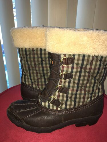 cb1ab54ec03 UGG AUSTRALIA NEWBERRY Waterproof Event Boot Stout Plaid w/ Brown Sz 7 MSRP  $249