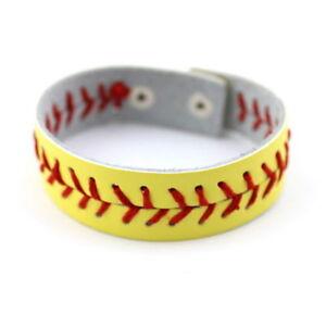 Softball-Leather-Bracelets-Wristlet