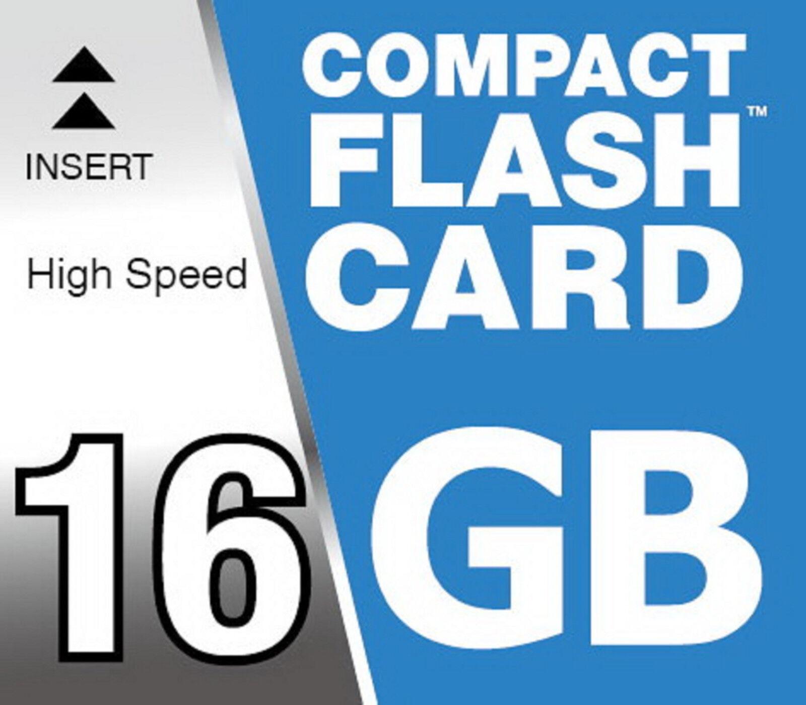 16GB Cf High Speed 150x Compact Flash Tarjeta de Memoria para Canon EOS 350D