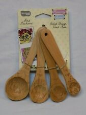 4 Set Owl Bird Etched Beechwood 1203 Talisman Designs Nature Measuring Spoons