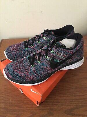 New Nike Men/'s Flyknit Lunar 3 Running Training Shoes Sz 10.5 Emerald 698181 302