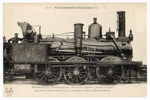 Railway-Postcard-P03122-Carte-Postale-Locomotives-Francaises-Midi-Est-etc