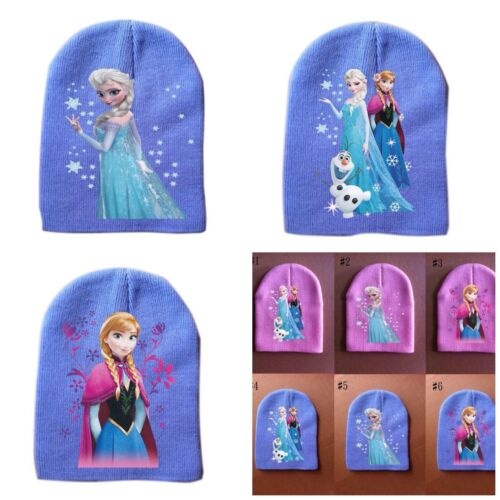 PINK or BLUE ELSA /& ANNA /& OLAF NEW FROZEN LITTLE GIRLS WINTER BEANIE