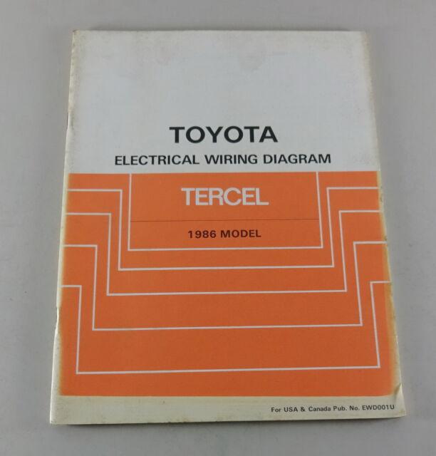Workshop Manual Toyota Tercel Electrical Wiring Diagram