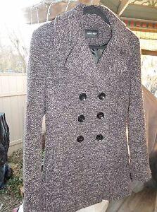 West tweed Nine en taille boutonnage pour violet femmes It Love à double 8 noir caban Rdd1qSw