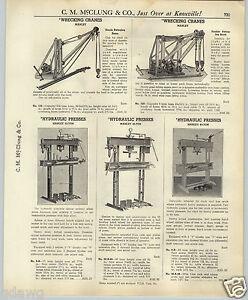 1937 Paper Ad Manley Tow Truck Wrecking Wrecker Crane