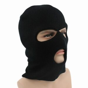 ee32ee2ce44 Full Face Cover Ski Mask 3 Hole Balaclava Knit Winter Warm Stretch ...