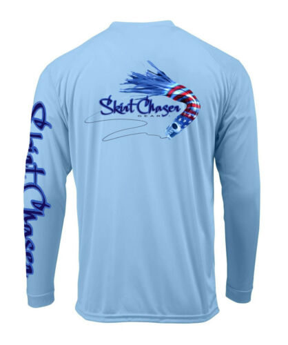 Microfiber Performance Fishing Shirt Skirt Chaser Gear Carolina Blue UPF 50