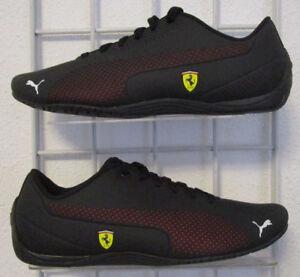 Men s Puma Ferrari Drift Cat 5 Ultra Sneakers, New Black Red Walking ... f2e477ba47e