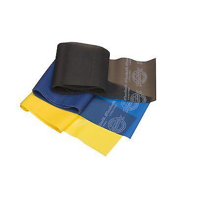 Theraband Beginner Starter Set Latex Free- Blue Yellow Resistance 4FT Black