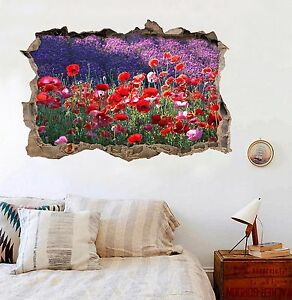 3D-Red-Flowers-296-Wall-Murals-Wall-Stickers-Decal-breakthrough-AJ-WALLPAPER-UK
