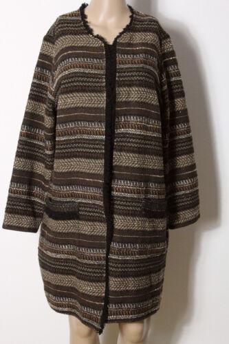 beige Mantel Bouclé Damen Mona Mit 44 Übergangs Gr Braun Wolle Muster OUwnBFnqI4