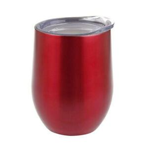 Oasis 330ml Stainless Steel Double Wall Insulated Wine Tumbler/Mug w/ Lid Ruby