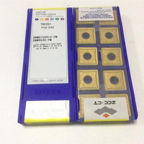 10pcs ZCC.CT SNMG150612-PM YBC251 SNMG543-PM CNC New Carbide Inserts