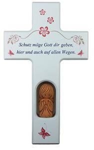 Kinderkreuz-m-Schutzengel-Holzkreuz-Taufe-Geburt-Taufgeschenk-Kommunion-Junge