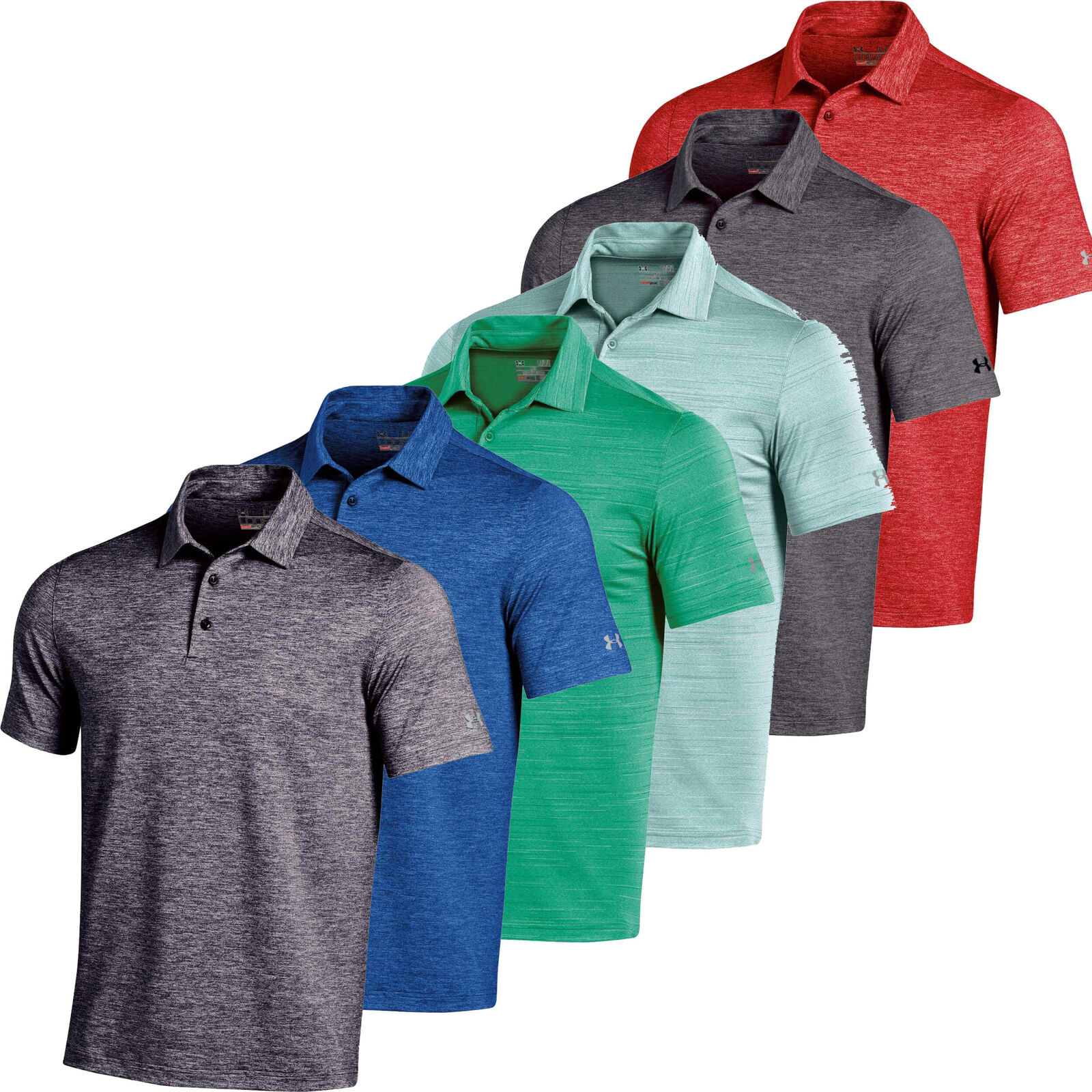 2e0d8b8b Under Armour UA Elevated Heather 2015 Black Golf Shirt XL for sale online |  eBay