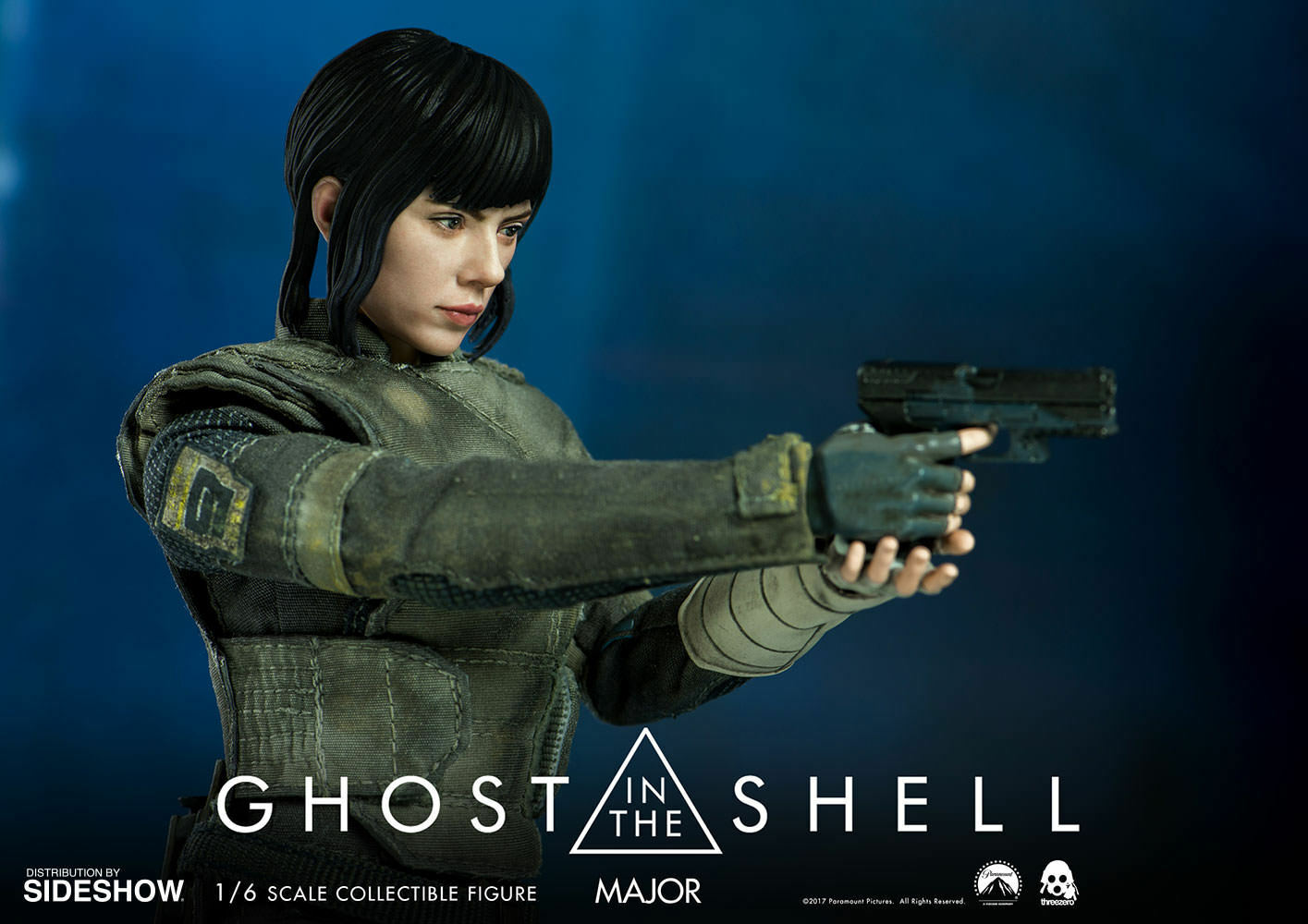 Ghost IN The Carcasa Scarlett Johannson Major 1 6 Action Figure Threezero
