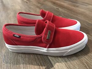 shopping huge sale 2019 best Details about NEW Vans FEAR OF GOD Slip On 47 DX Red FOG Velcro Men's Size  9 Authentic NWOB