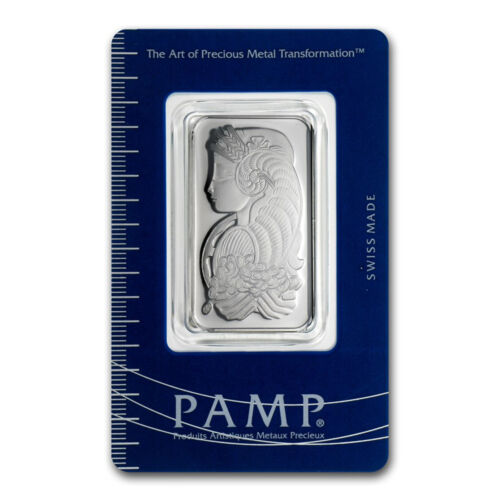 1 oz Pamp Suisse Platinum Bar .9995 Fine With Assay Cert.