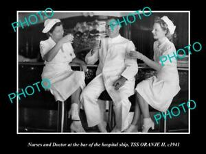 OLD-HISTORIC-PHOTO-OF-THE-AUSTRALIAN-NAVY-HOSPITAL-SHIP-SS-ORANJE-1941-NURSES-1