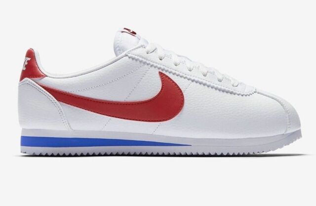 the best attitude 5a2f8 11995 New Nike Men's Classic Cortez OG Leather Shoes (882254-164) White//Red-Royal