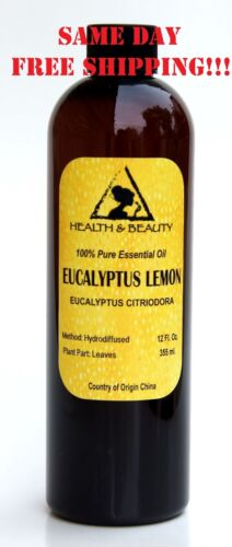 EUCALYPTUS LEMON ESSENTIAL OIL by H&B Oils Center AROMATHERAPY 100% PURE 12 OZ